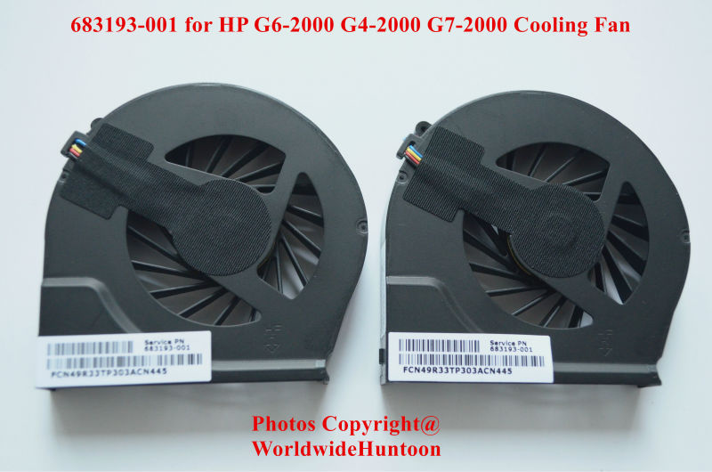 Brand new Original Laptop cooling fan for HP G6-2000 G4-2000 G7-2000 683193-001 DFS531205MC0T FB5S Fully Tested&Free shipping(China (Mainland))