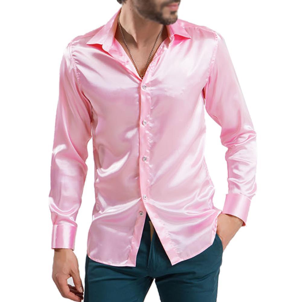 Popular satin mens shirts buy cheap satin mens shirts lots for Silk long sleeve shirt