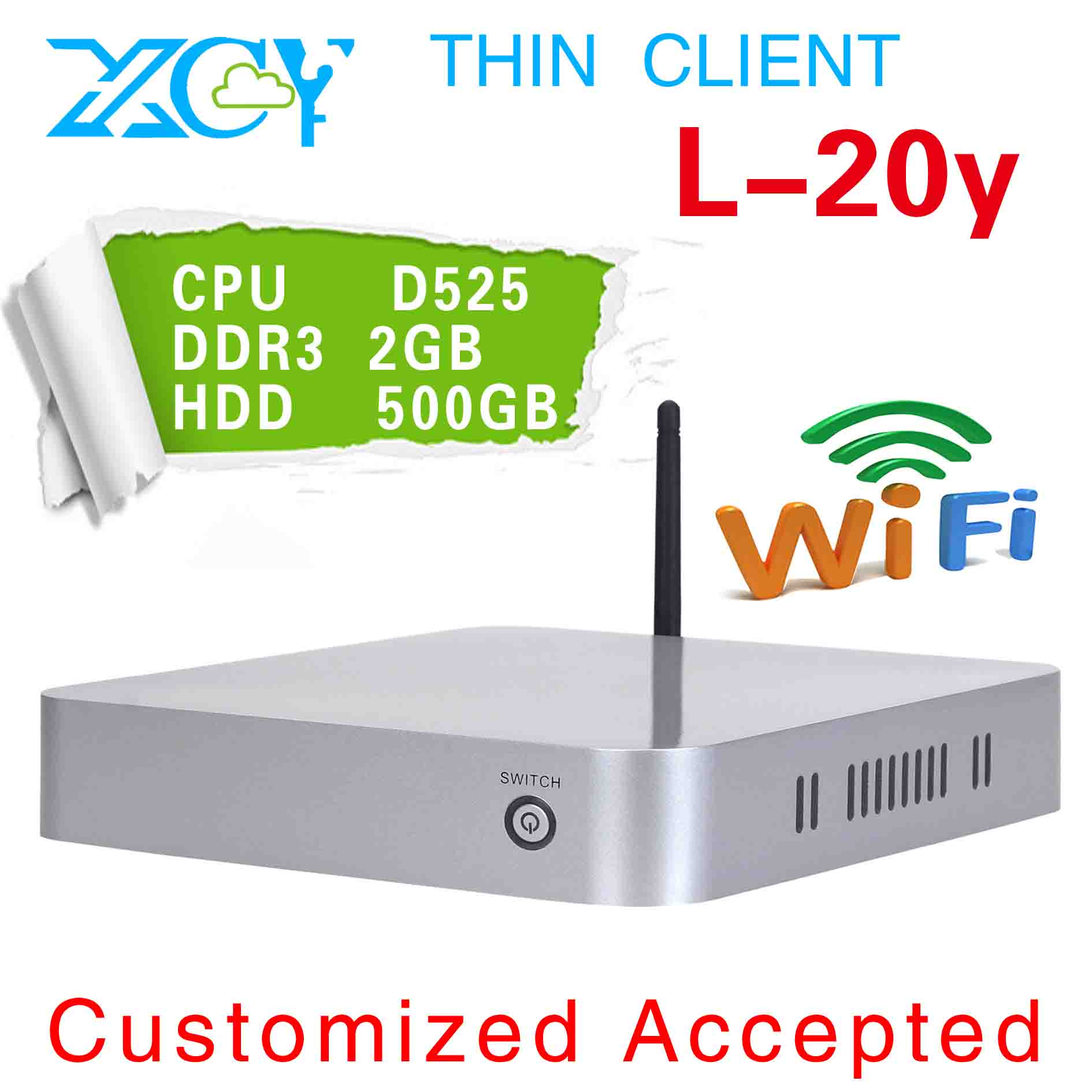 XCY L-20Y mini thin client, virtual pc station, thin client office networking, ultra-low-power 4*USB2.0(China (Mainland))