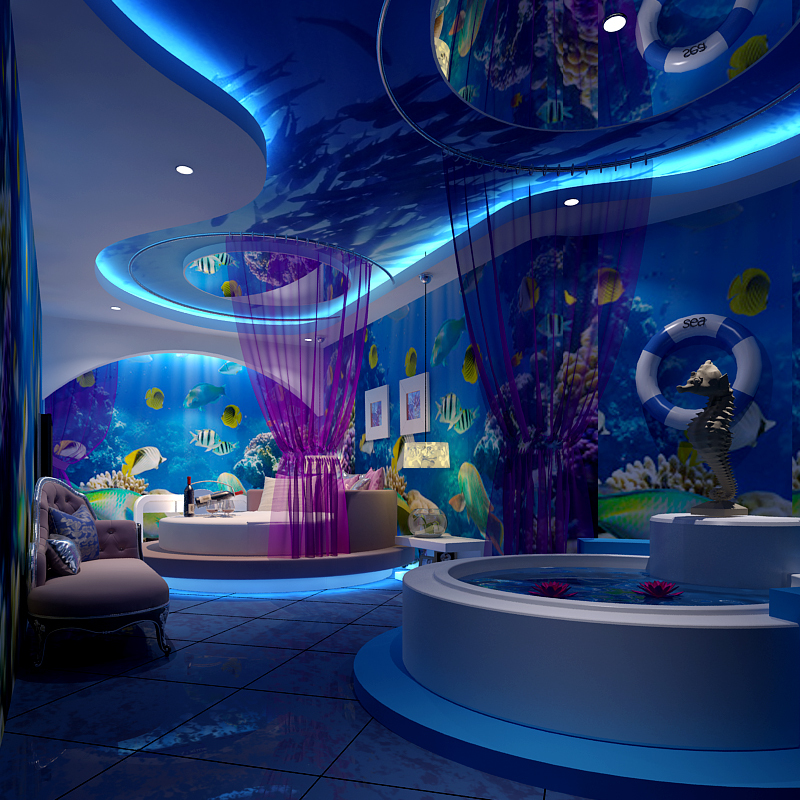 Buy 2015papel de parede 3d personalized for Under the sea bedroom designs