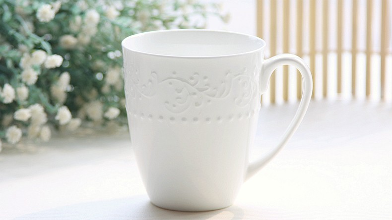370 ML, Bone china, plain white ceramic coffee mugs, milk mug cup, heat sensitive mug, creative gift(China (Mainland))