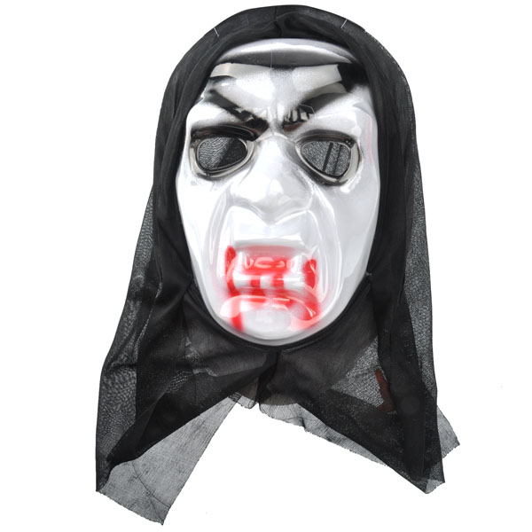 Hot Selling 1pcs Scream Bleeding Ghost Face Mask Full Face Mask with Lace for Halloween Party Free Shipping(China (Mainland))