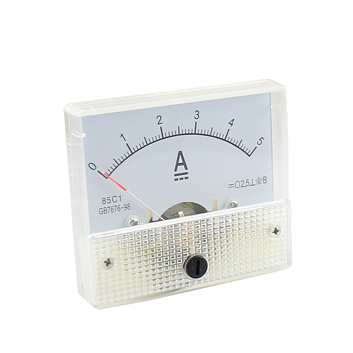 DC 5A Ammeter Analog Head Current Table Mechanical Meter Gauge 85C1 Electrical Instruments Class 2.5 White 5A(China (Mainland))