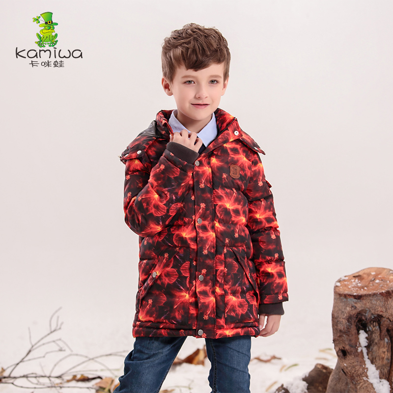2015 Baby Boys Geometric Printing Winter White Duck Coats Thicken Parkas Jackets Hooded Children Clothes Kids Clothing - Hangzhou Angelababy KIDS Co.,Ttd store