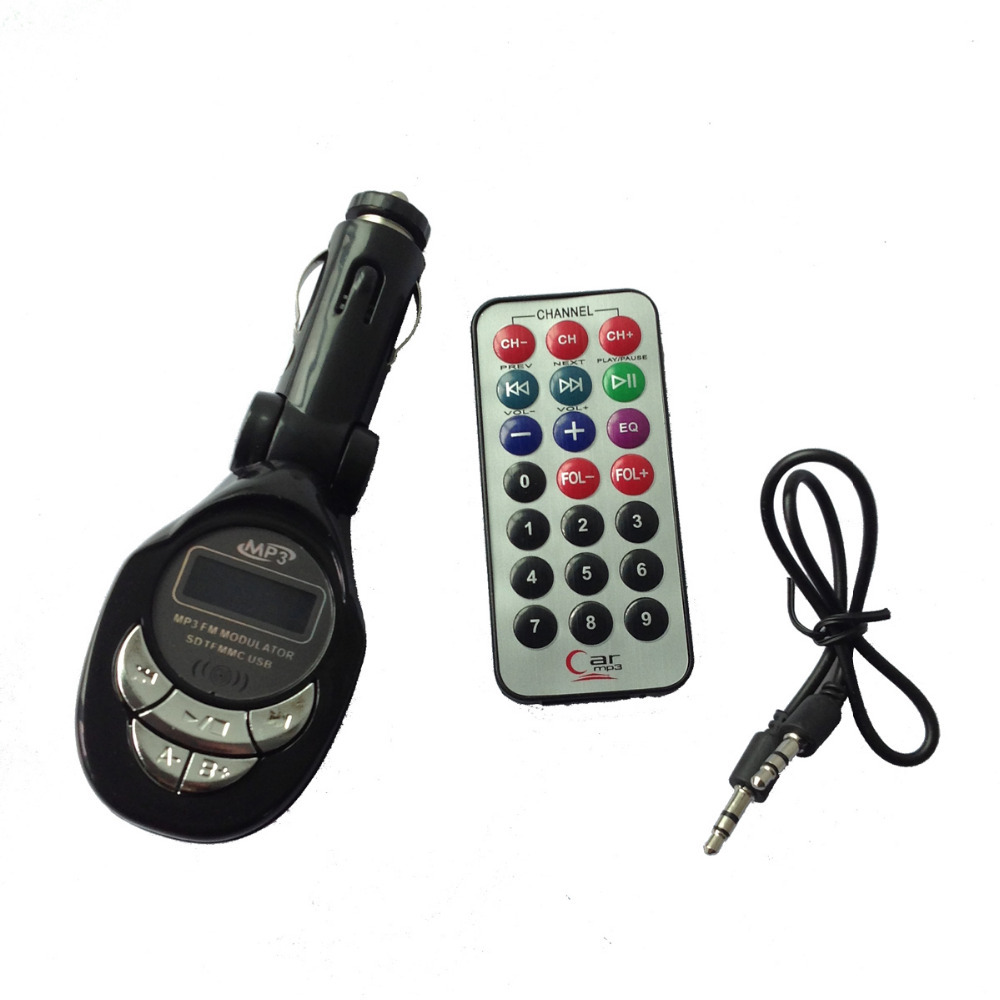 New High Quality Fashion Black Car MP3 Player FM Transmitter USB Pen Drive For SD MMC Slot Card(China (Mainland))