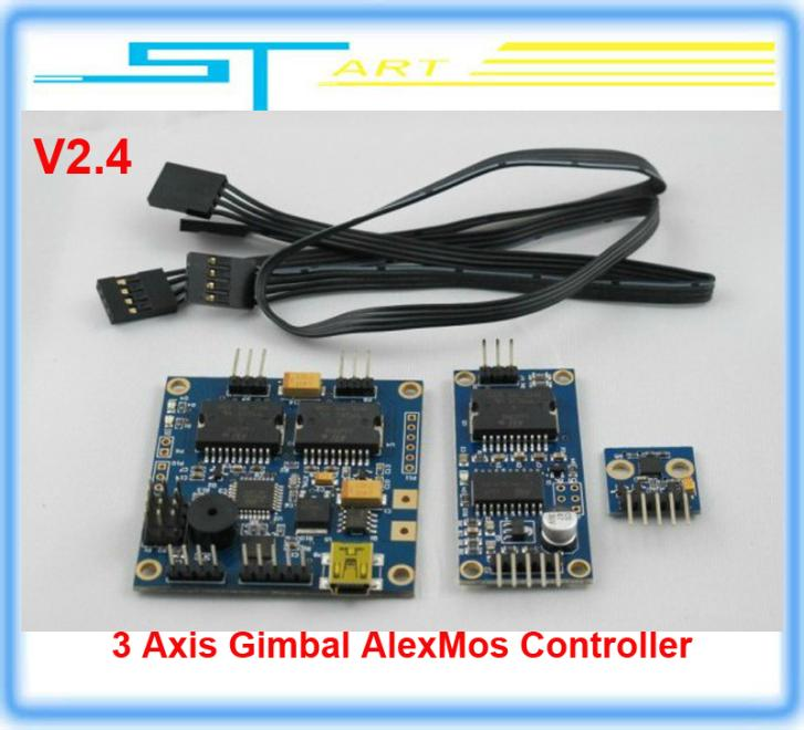 10pcs/lot Latest Version Original Alexmos 3 Axis Firmware Simple Brushless Gimbal Controller V2.4 FPV Photography Free shipping<br><br>Aliexpress