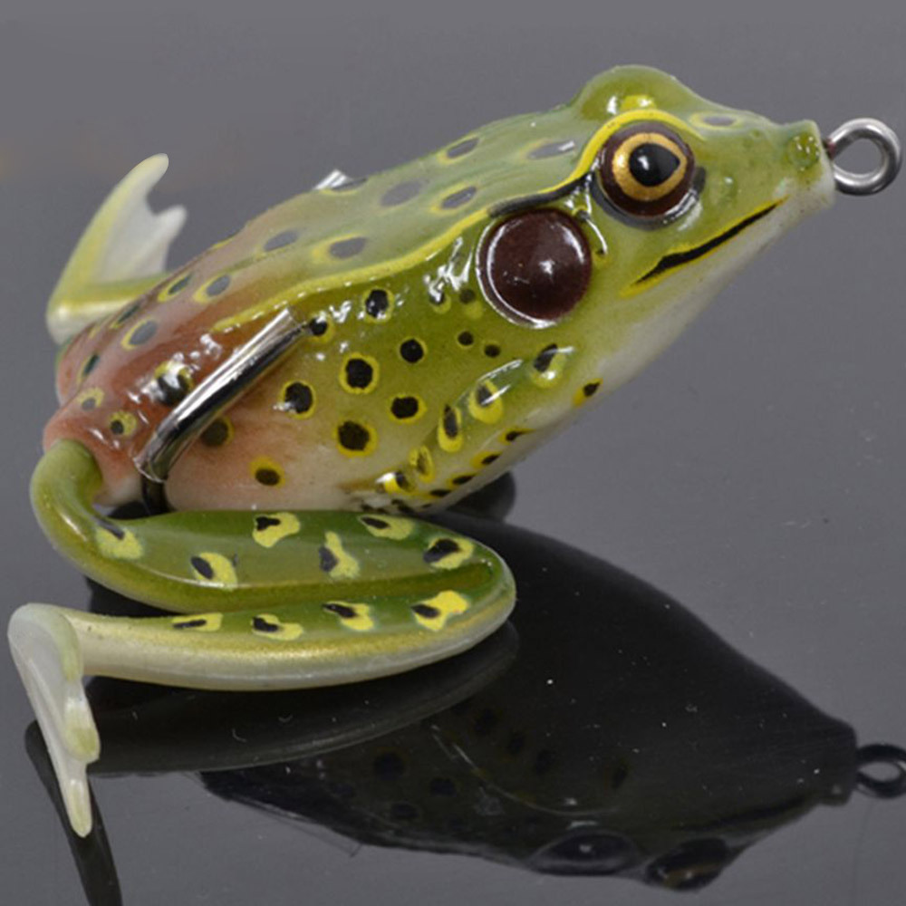 Buy trulinoya soft bait 2pcs 55mm for Top water frogs bass fishing