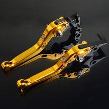 Palancas de freno de motocicleta palancas plegables extensibles para Kawasaki kawgpz 500 S EX500R EX 500R NINJA 1990- 2009(China)