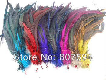 """wholesale  100pcs/lot long 30cm 12"""" 7colors Dyed DIY Hair extension pheasant tail feather feathers party wedding"""
