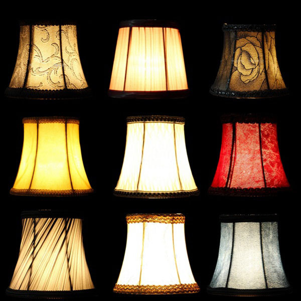 Wall Candle Light Shades : Fabric Cloth Floral Lampshade European High Grade Crystal Candle Chandelier Lamp Shade Wall ...
