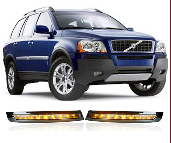 Free shipping    Volvo XC90 LED DRL daytime running light + dimmer function + turn light function + control protection<br><br>Aliexpress