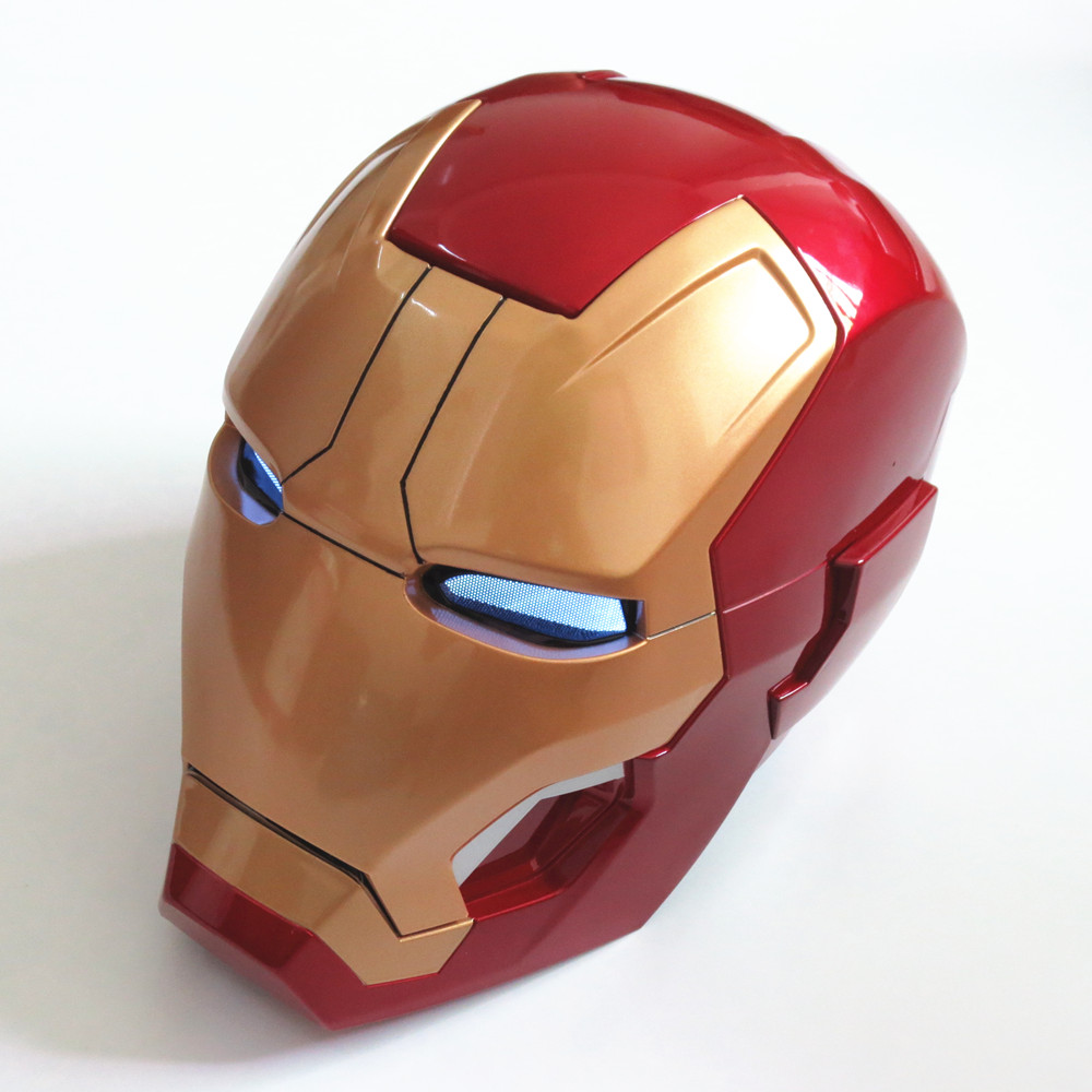 Auto Open and Light Recloser Iron Man Helmet 1:1 Wearable ABS Helmet Tony Stark Mark 42 MK42 Cosplay 1:1 Mask with LED Light(China (Mainland))