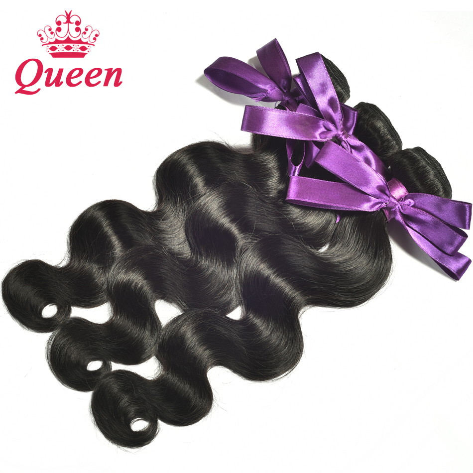 Гаджет  7A Brazilian Virgin Hair Body Wave 3 Bundles Queen Hair Products Brazilian Body Wave Unprocessed Human Hair Weave 100g/Bundle None Волосы и аксессуары