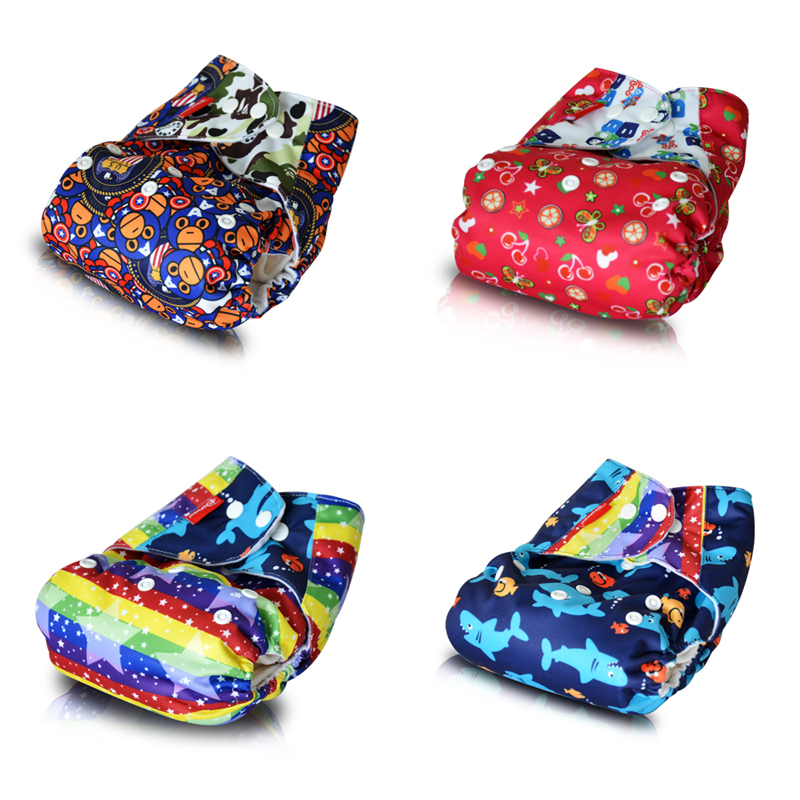 Super Cloth DIaper,One Size Fits All Pocket Diaper Stay Dry Baby Diaper for 8lbs to 40lbs (1PCS Bamboo Insert)(China (Mainland))