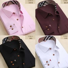 Men's spring new long-sleeved white shirt Slim Korean men and non-iron oxford casual shirt tide