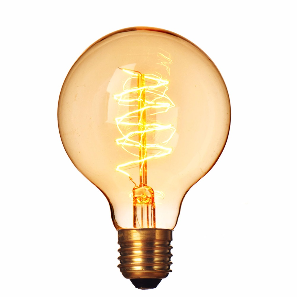 220V E27 40W Incandescent Bulbs Filament Light Vintage Retro Antique G80 Wire Wrap Industrial Style Lamp Bulb Tungsten BulbLight(China (Mainland))