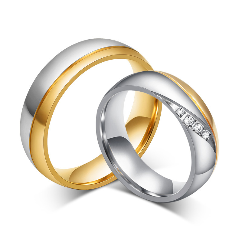 Jewelry Fashion Men And Women Wedding Rings 18K Gold Plated Rings