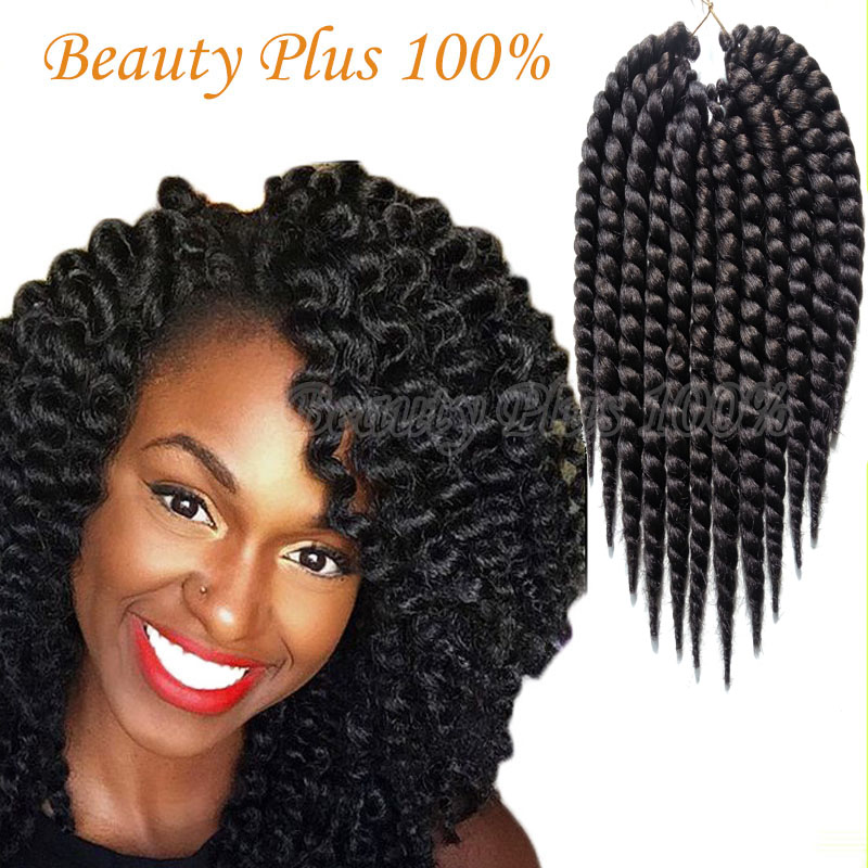Mambo Twist Crochet Braid Hair 12 75g/pack Synthetic crochet braids...