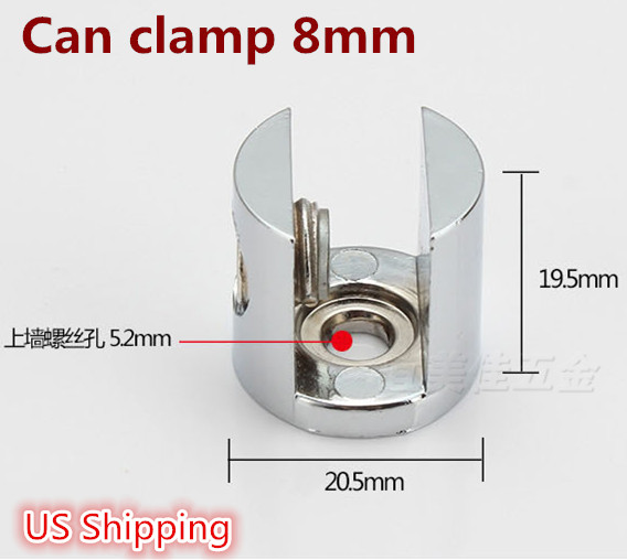 US Shipping 4pcs Adjustable Metal Shelf Holder Bracket Support For Glass or Wood Shelves(China (Mainland))