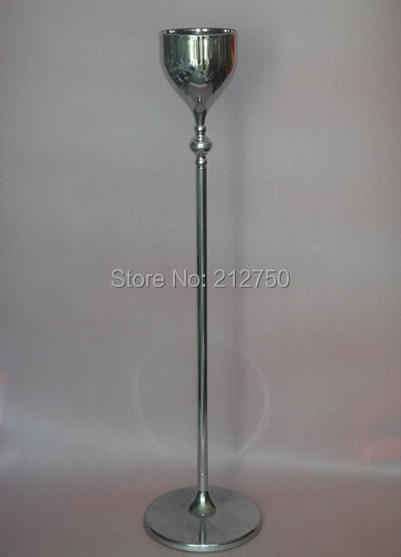 """120cm 47"""" Tall trophy shape iron art silver wedding road led decoration centerpieces flower vases Express free shipping(China (Mainland))"""