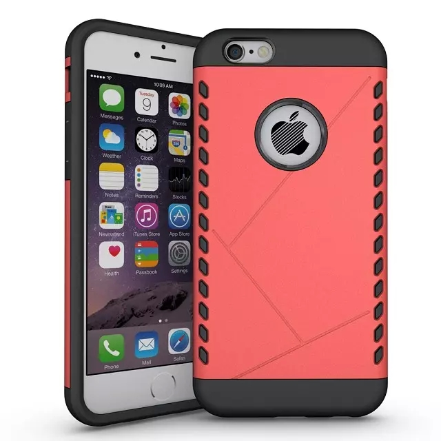 Domineering 2 in 1 PC+TPU Tough Armor Hybrid Case For iphone 6 6S Plus 5.5 inch Silm With Stand Hard Back Cover(China (Mainland))