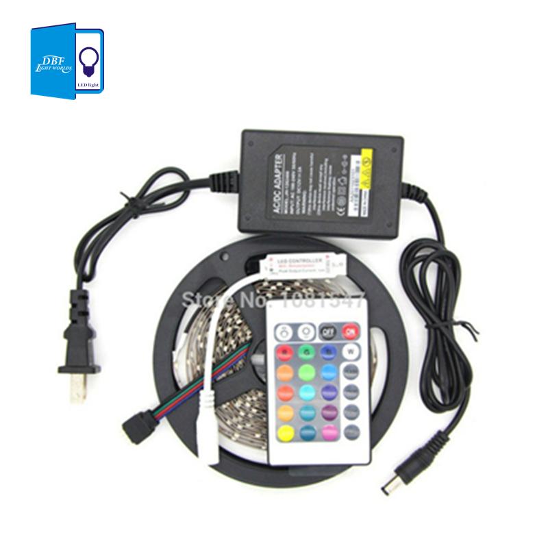 Гаджет  Free shipping High-quality non-waterproof 5M SMD RGB 3528 LEDstrip 300 LEDS/rollt+24key remote +2A adapter None Свет и освещение
