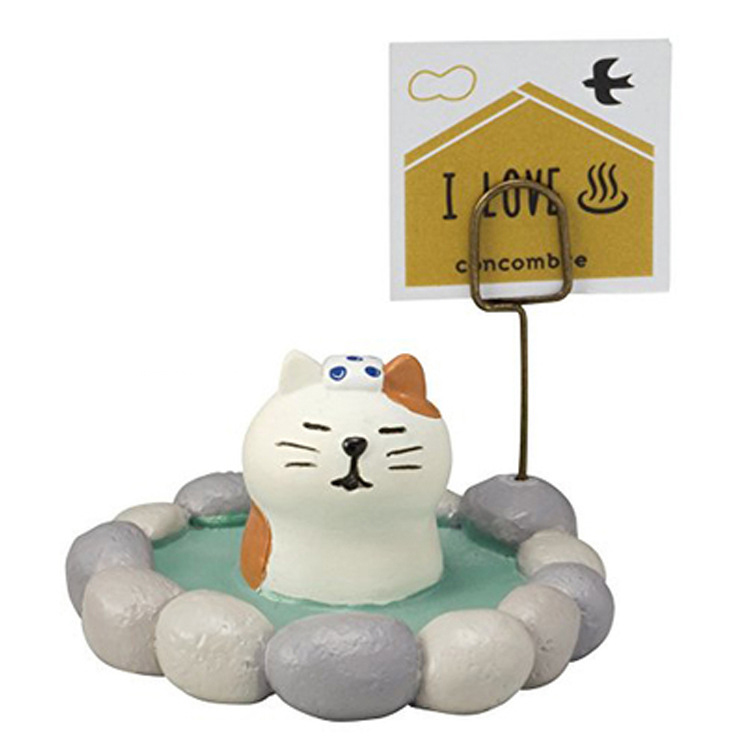 Message folders Resin Japanese zakka Kawaii Resin crafts Black White cat figurines Business card holder micro landscape ornament(China (Mainland))