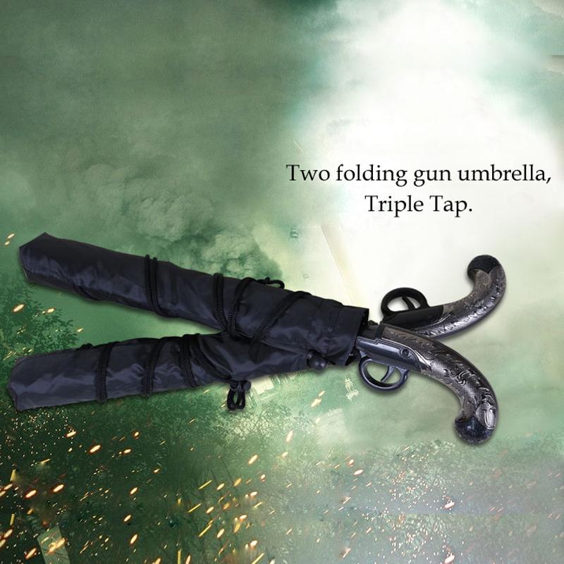 2015 New Arrival Rifle Umbrella Men Gun Design Umbrellas For Men 2 Fold Auto Open Umbrella Cool Fashion Gift For Guy Boys(China (Mainland))