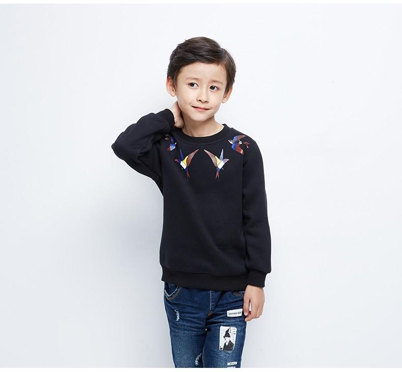 Скидки на Pioneer Дети 2016 Новые мальчики хлопок зимние sweatershirts круглым воротом животный печати мальчики балахон одежда сгущаться зимние одежды
