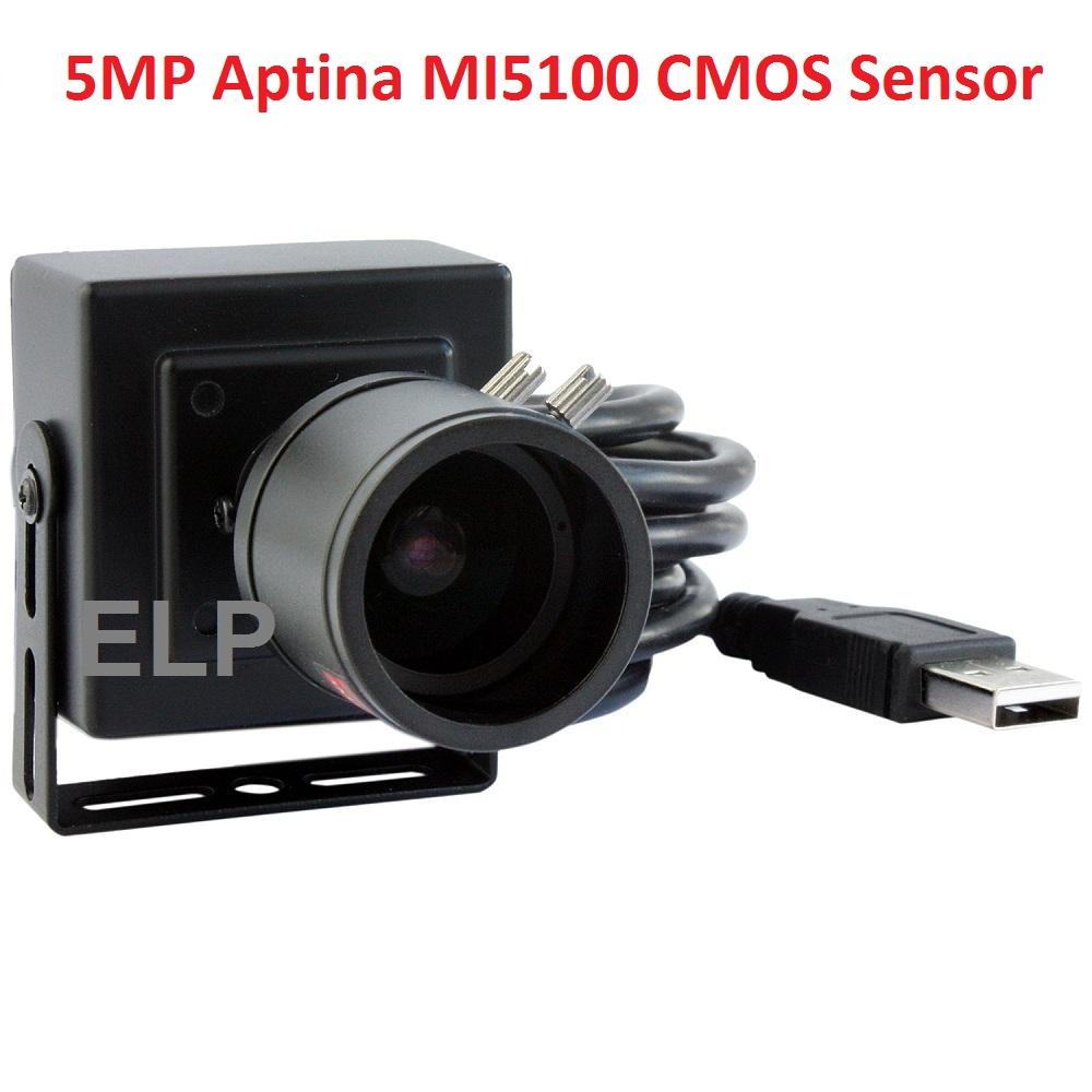 Free shipping CCTV 2.8-12mm megapixel varifocal lens 5mp full HD Aptina MI5100 CMOS mini box usb camera for electronic equipment(China (Mainland))