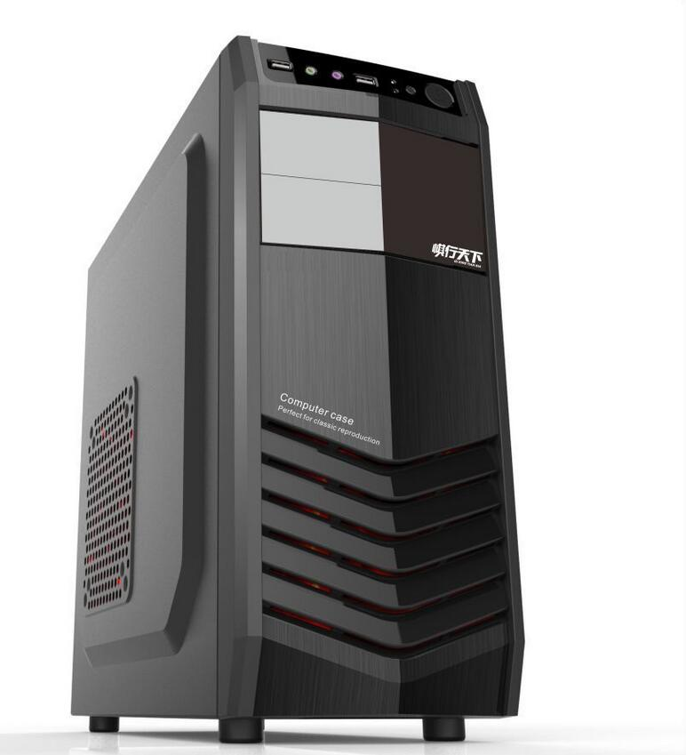 New game desktop computer chassis USB 2.0 full black radiation, USB2.0, product size: 420 * 183 * 410MM computer chassis case(China (Mainland))
