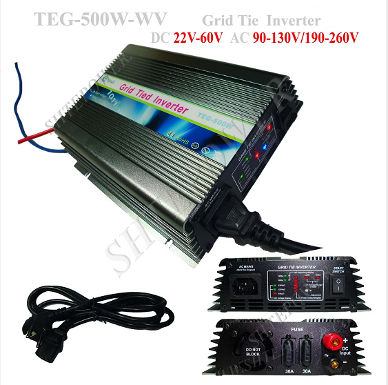 High efficiency mppt grid tie pure sine wave pv dc ac micro power inverter 500w(China (Mainland))