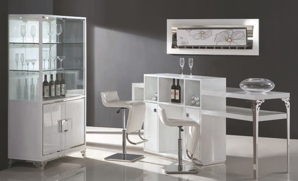 Modern Bar Furniture Home Good White Barclay All Extendable With