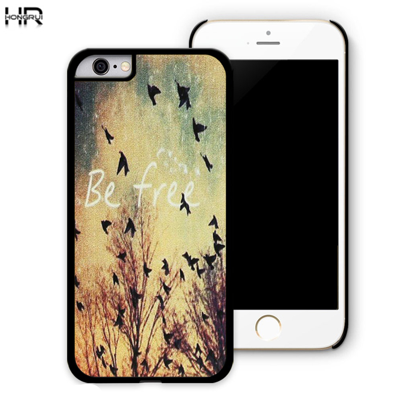 Be Free Birds Cute Quote Retro Vintage best Brand Cell mobile Phone Cases Cover For iPhone 4s 5s 5 5 5c 6 6plus Samsung s5 s6 s4(China (Mainland))