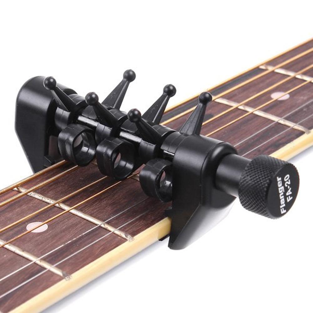 New Arrival Flanger Flexi Portable Alternative Tuning Guitar Capo Black(China (Mainland))