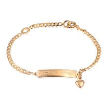 Baby Gold Plated Letter Love Bracelets Bangle Bracelete Nina Pulseira Women Girl Chain Bracelet Bebe Charms Kids Jewelry BR18-39(China (Mainland))