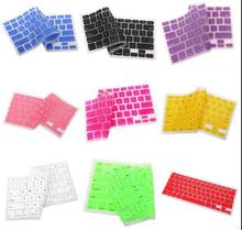 9 Colors Silicone Keyboard Protector Cover Skin for US Apple Macbook Pro MAC 13 15 17 Air 13 NO Tracking NO. 2015  New Wholesale(China (Mainland))