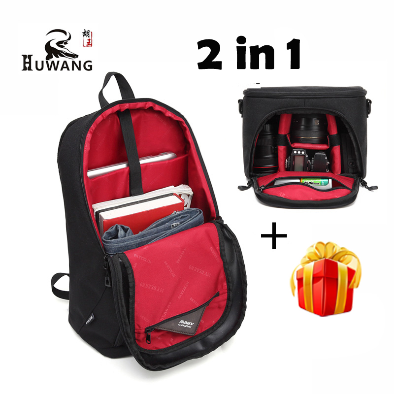 HUWANG 2 in 1 Waterproof Shockproof Multi-functional bag insert Camera Bag case Digital DSLR Photo Backpack for Canon Nikon SONY(China (Mainland))