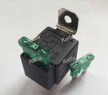 1piece4p 30A auto relay with fuse, coil voltage 12VDC relay,Normally Open Contacts 30A Car Bike Van Car Automotive Fused On/Off(China (Mainland))