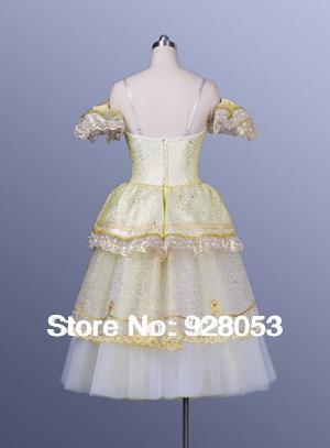 Adult Bballet Tutu Ballerina Dresses Ballet Dancewear Classical Ballet Tutu For Girls Dance Costumes Gold Long