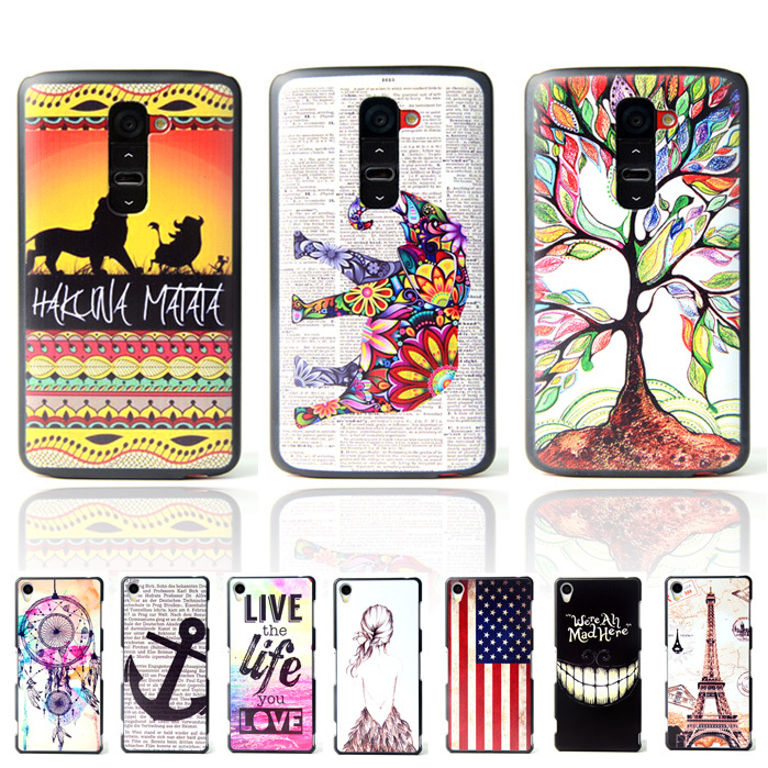 Brand Ultra Thin Owl Cartoon Pattern Matte Hard Plastic Back Case for LG G2 Optimus D801 F320 D802 VS980 F340L Cell Phone Cover(China (Mainland))