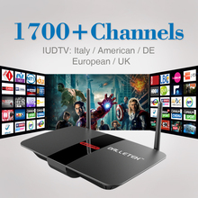 Buy Android Smart TV Box H.265 Free HD Arabic Iudtv Iptv Subscription 1Year Europe Sweden Italy French Set Top Box Media Player for $63.65 in AliExpress store