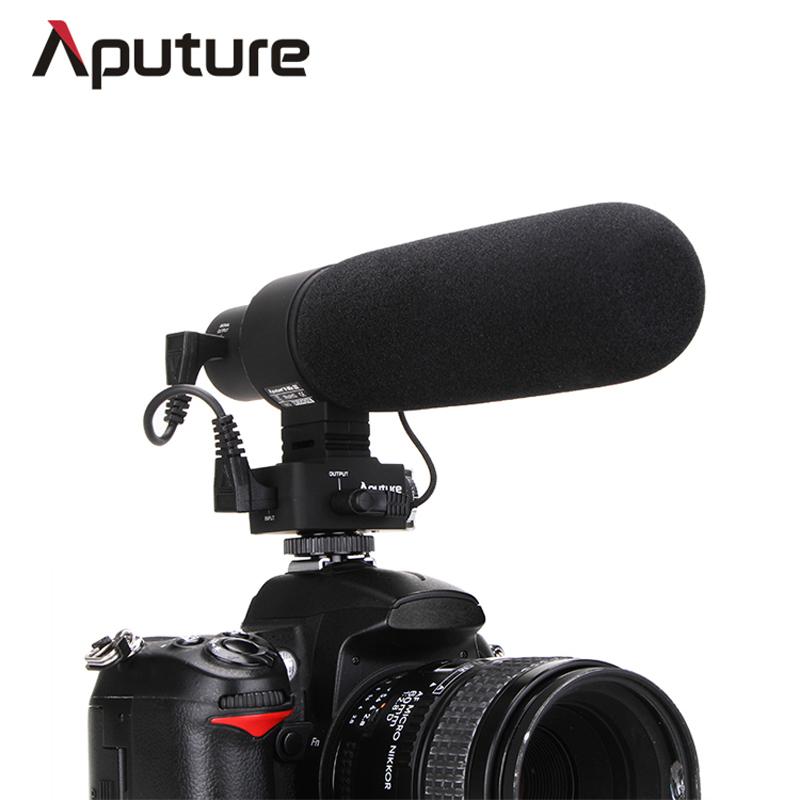 Aputure V-Mic D2 Sensitivity Adjustable Directional Condenser Shotgun Microphone Nikon Canon Sony Pentax