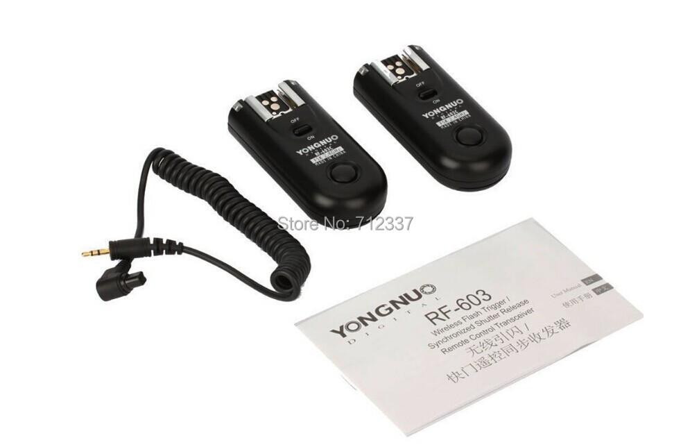 Yongnuo Upgrade RF-603 II C3 Flash Trigger/Wireless Shutter Release Transceiver Kit for 1D/1DS, EOS 5D Mark II/5D/7D/50D/40D/(China (Mainland))