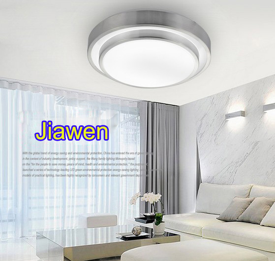 32w Double line ceiling light, Surface mounted Silver borders + white lampshade,bedroom/den lamp, cool white 2 years warranty<br><br>Aliexpress