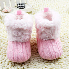 Fashion Infant Baby Crochet/Knit Boots Booties Toddler Girl Winter Snow Crib Socks(China (Mainland))