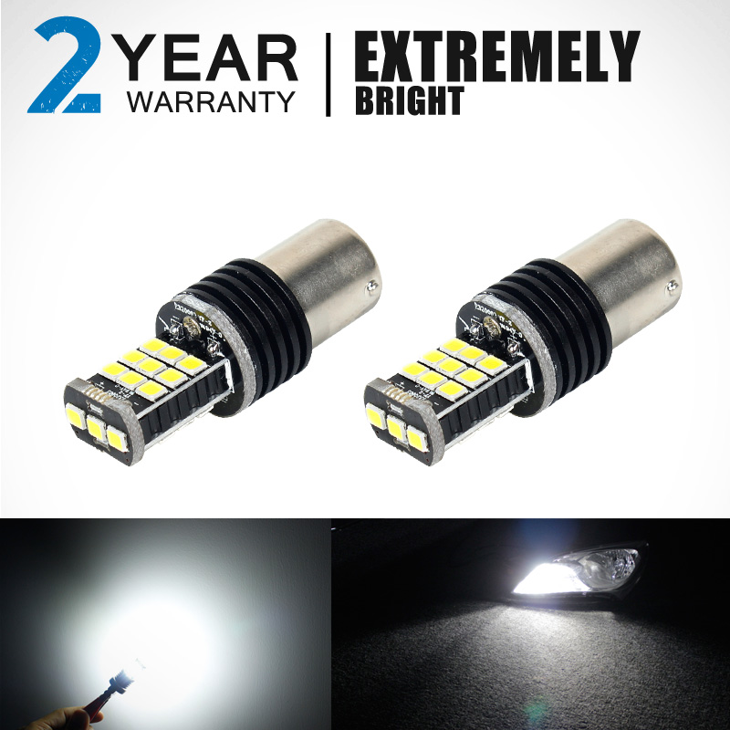 Car led 1156 BA15S 1141 7506 21 SMD Maiker 2PCS Brake Parking Reverse Lights Fog Lamps Turn Signal Bulb DC12V 6500K Whi(China (Mainland))