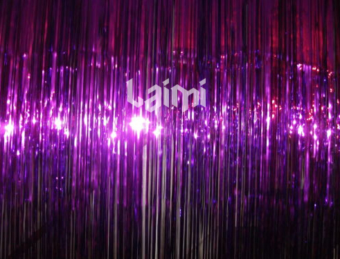 2M*1M One Purple Foil Tinsel Shimmer Curtains Party Pub House Door Curtain Stage Background Christmas Wedding Decoration(China (Mainland))