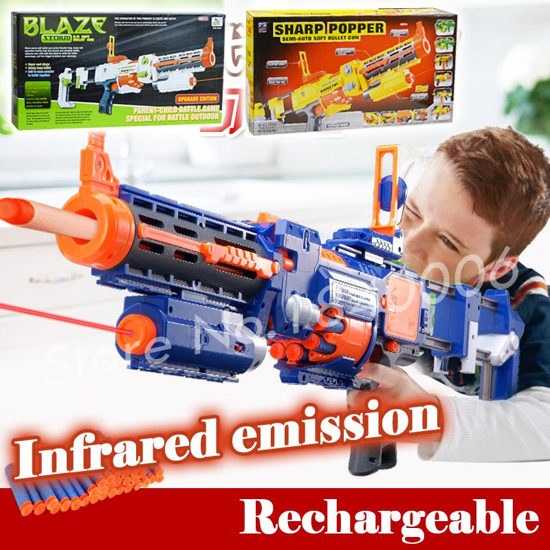 74cm Big Toy Gun Infrared Sighting Electric Arma Toys CS Game Soft Bullet Air Guns Nerf N-Strike Elite Retaliator - Baby Rhythm store