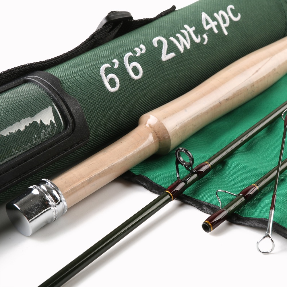 High Quality SK Carbon Fly Fishing Rod 6'6''FT 2WT Medium Fast Action With Cordura Tube Super Light Fly Rod(China (Mainland))